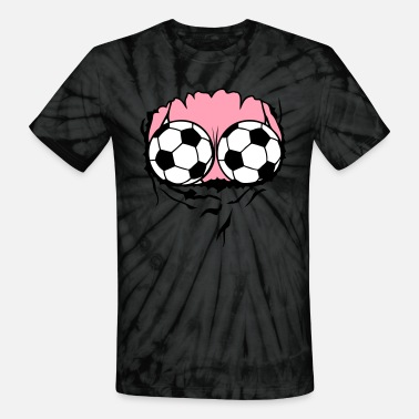 Swimsuit breasts swimsuit soccer ball - Unisex Tie Dye T-Shirt
