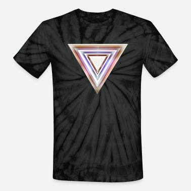 Blurred Triangle - Unisex Tie Dye T-Shirt