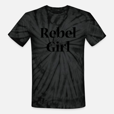 Rebel girl - black - Unisex Tie Dye T-Shirt