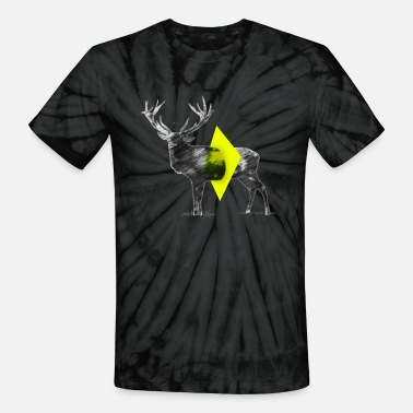 Cut Out Cut Out Deer - Unisex Tie Dye T-Shirt