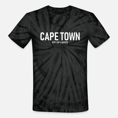 Cape Town Cape Town - City of Lights - South Africa - Unisex Tie Dye T-Shirt