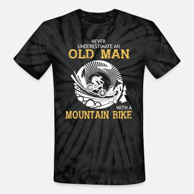 Mountain Old Man With A Mountain Bike T Shirt - Unisex Tie Dye T-Shirt