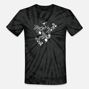 Circuit Detailed Circuit - Unisex Tie Dye T-Shirt