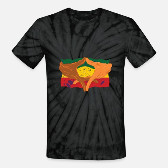 Black T-Shirts - Hands of His Imperial Majesty - Unisex Tie Dye T-Shirt spider black