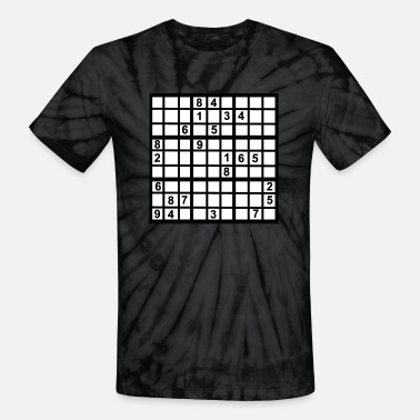 Writable Sudoku - Brainteaser - Unisex Tie Dye T-Shirt