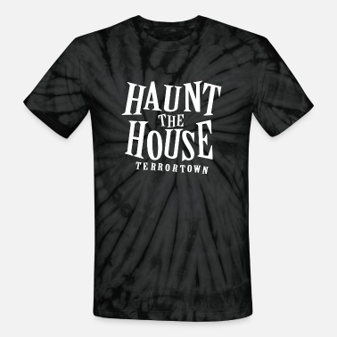 Haunted Haunt House - Unisex Tie Dye T-Shirt
