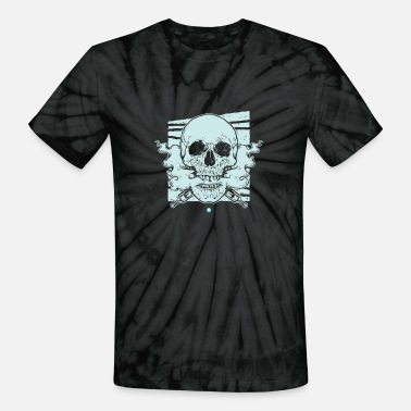 Cotton Mouth Vaping Skull | Cloud Chaser | Undead Vaper - Unisex Tie Dye T-Shirt