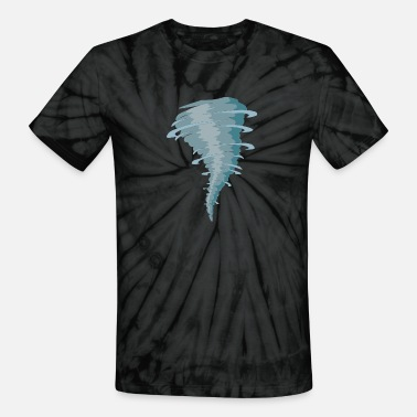 Tornado Tornado - Storm - Scary Weather - Hurricane - Unisex Tie Dye T-Shirt