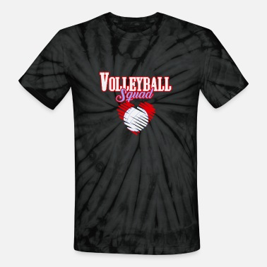 Volleyball Sayings Volleyball Squad | Heart Love Team Sports - Unisex Tie Dye T-Shirt