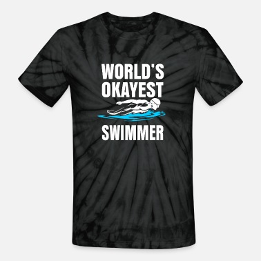 Swimming summer pool - Unisex Tie Dye T-Shirt