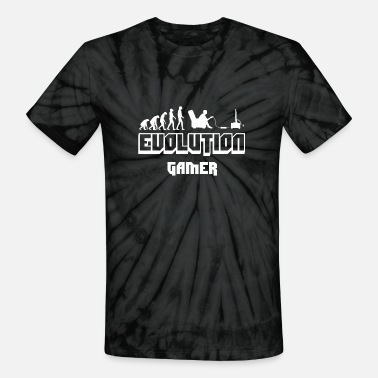 Gamers Evolution gamer - Unisex Tie Dye T-Shirt