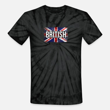 British Cool British Flag. Proud Old English Flag - Unisex Tie Dye T-Shirt