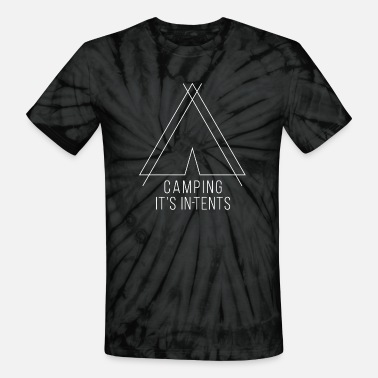 camping is in-tents white - Unisex Tie Dye T-Shirt