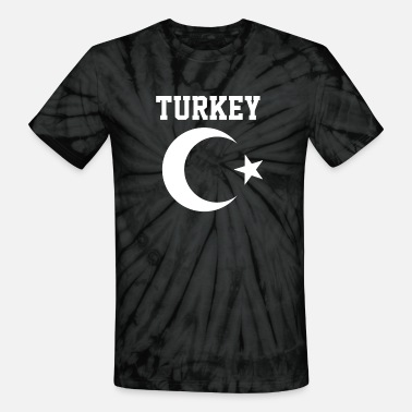 Al Bayrak Turkish Turkey Flag Crescent Moon and Star - Unisex Tie Dye T-Shirt