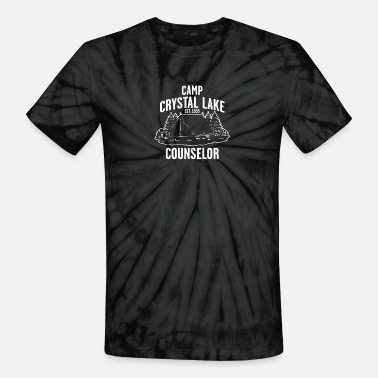 Crystal Camp Crystal Lake Counselor - Unisex Tie Dye T-Shirt