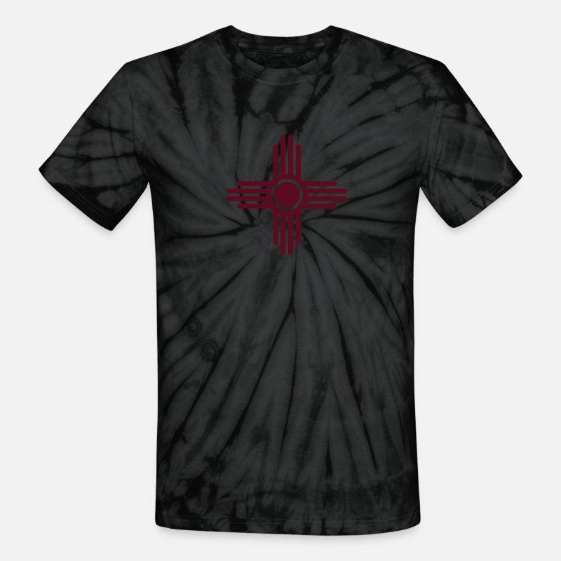 70a386599efd2 Zia Sun, Zia Pueblo, New Mexico, Sun Symbol, SVG, Unisex Tie Dye T-Shirt -  spider black