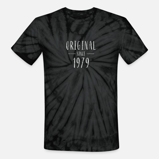 1979 T-Shirts - Original since 1979 distressed - Born in 1979 - Unisex Tie Dye T-Shirt spider black