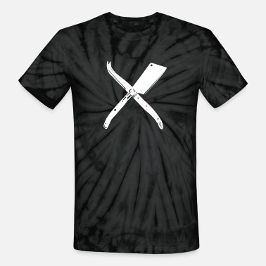 Cheese Curds Curd Collective - Cheese Knives - Unisex Tie Dye T-Shirt