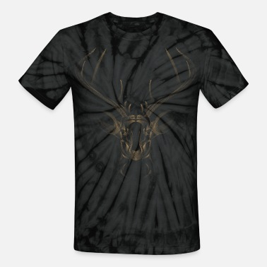 Three Hauses Golden Deer Head - Unisex Tie Dye T-Shirt