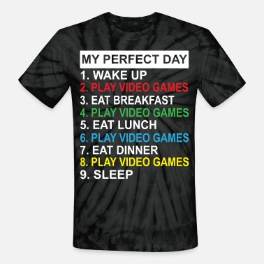 Game My Perfect Day Video Games Shirt - Unisex Tie Dye T-Shirt