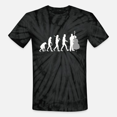 Double Double bass - Double Bass Player Evolution Funny - Unisex Tie Dye T-Shirt