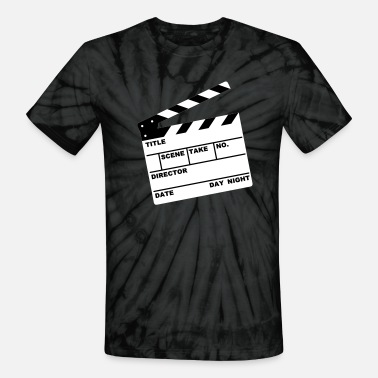 Writable clapperboard (writable flex) - Unisex Tie Dye T-Shirt