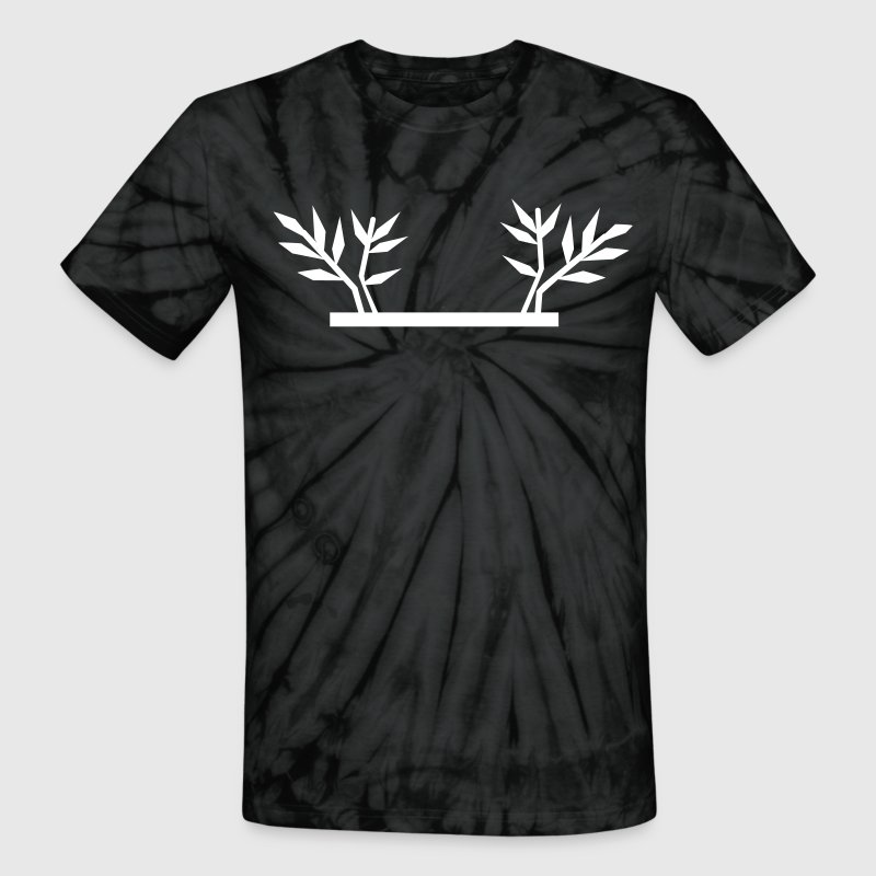 BAMBOO SHOOTS can be used in frame framing border - Unisex Tie Dye T-Shirt