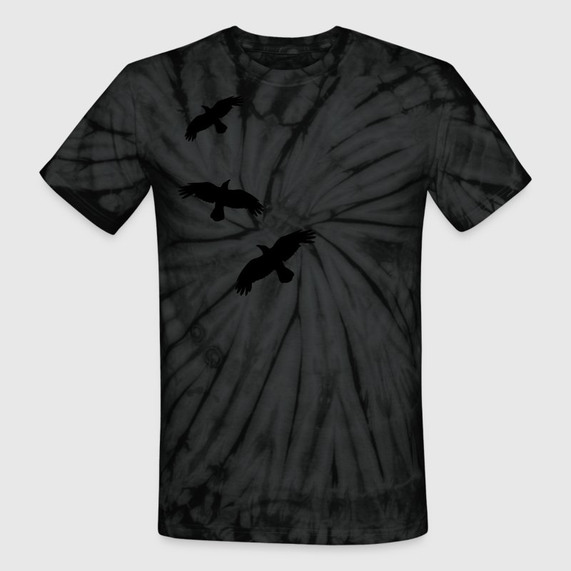 1 color - raven mystical crows flying birds - Unisex Tie Dye T-Shirt