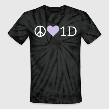 Peace Love 1D - Unisex Tie Dye T-Shirt