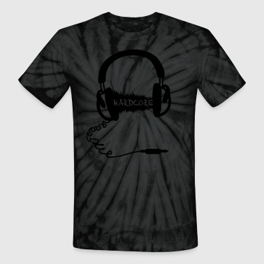 Headphones Headphones Audio Wave Motif: Hardcore - Unisex Tie Dye T-Shirt