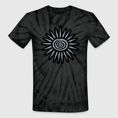 Sun Ray Solar Big Sun, Big Rays With Funky Swirl, 2 Color - Unisex Tie Dye T-Shirt