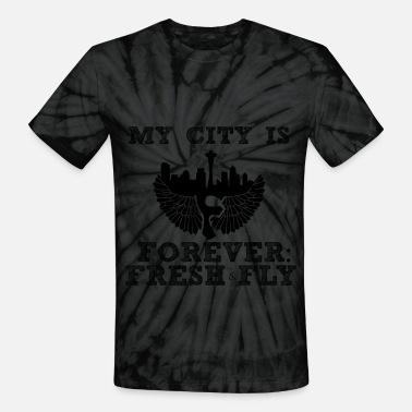 Forever Fresh Fly FFF_My City Is blk on blk T-Shirts - Unisex Tie Dye T-Shirt