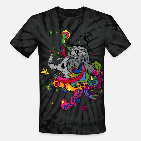 a9492ab7 Hippie T-Shirts - Hippy Wizard - Unisex Tie Dye T-Shirt spider black