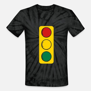 Traffic-light-green traffic lights red amber and green - Unisex Tie Dye T-Shirt