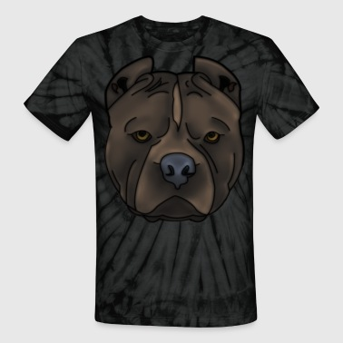 Pitbull Pitti Pitbull head with many details - Unisex Tie Dye T-Shirt