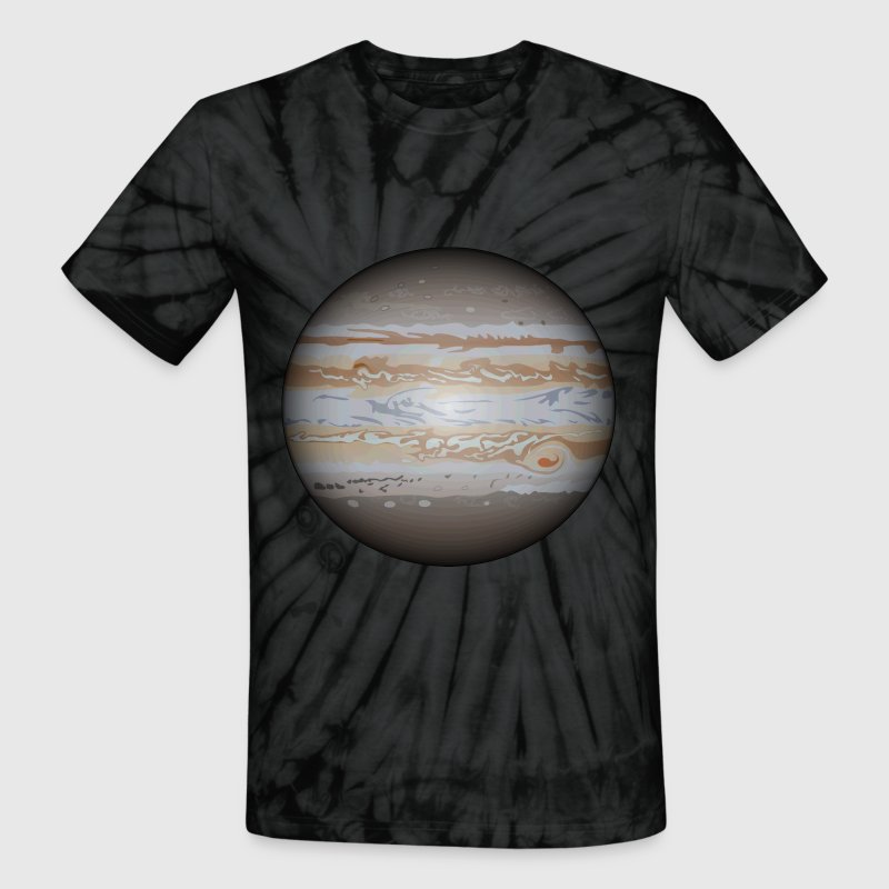 The Planet Jupiter - Unisex Tie Dye T-Shirt