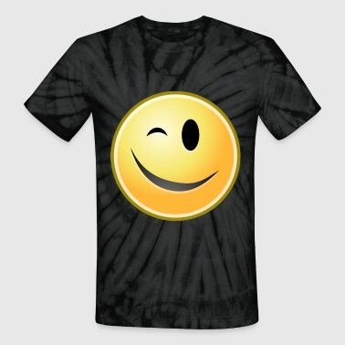 cartoon emoticons smiley face wink - Unisex Tie Dye T-Shirt