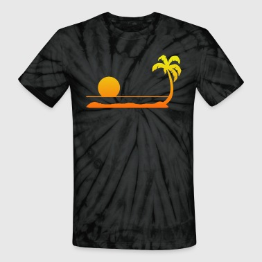 Tropical Sunset - Unisex Tie Dye T-Shirt