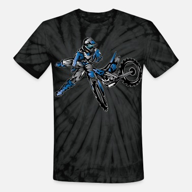 Kids Dirt Bikes Yamaha Freestyle Dirt Bike T-Shirts - Unisex Tie Dye T-Shirt