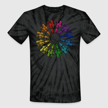 Lobster Color Wheel - Unisex Tie Dye T-Shirt