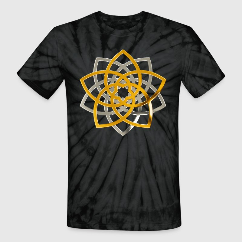 flower of venua duo | gold silver - Unisex Tie Dye T-Shirt
