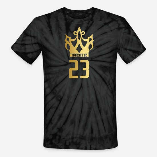 James T-Shirts - Mabrones Inc Gold Crown - Unisex Tie Dye T-Shirt spider black
