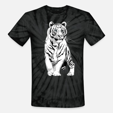 White Tiger Stately White Tiger - Unisex Tie Dye T-Shirt