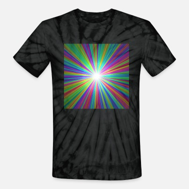 Ray Of Light Rainbow ray of light - Unisex Tie Dye T-Shirt