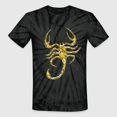 Scorpions Kids Scorpion, digital gold, Scorpio - Unisex Tie Dye T-Shirt