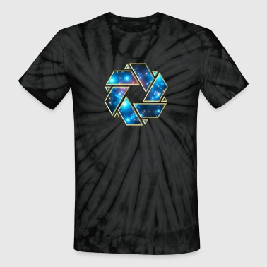 Crop Double Mobius strip, crop circle, non-duality  - Unisex Tie Dye T-Shirt