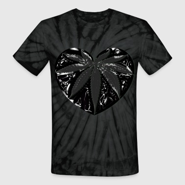 Black heart - Unisex Tie Dye T-Shirt