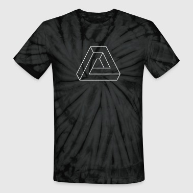 Optical Illusion - Triangle - Unisex Tie Dye T-Shirt