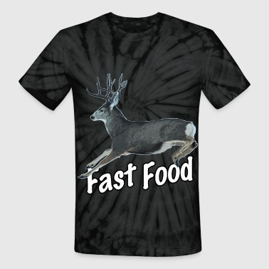 Fast Food Buck Deer - Unisex Tie Dye T-Shirt