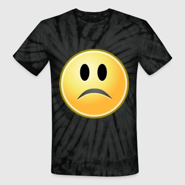 cartoon emoticons smiley face sad - Unisex Tie Dye T-Shirt